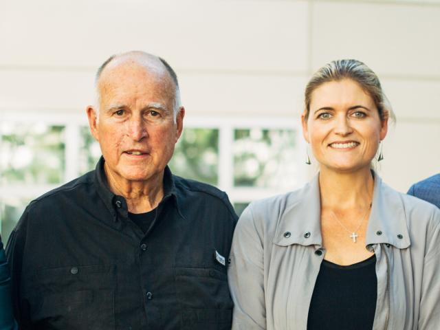 Jerry Brown and Anita Oberholster